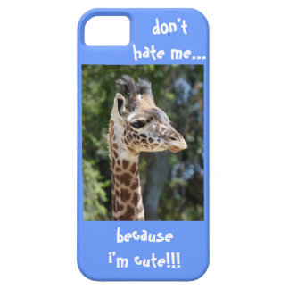 Baby Giraffe, don't hate me because i'm cute!! iPhone SE/5/5s Case