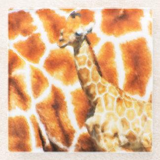 Baby Giraffe Glass Coaster