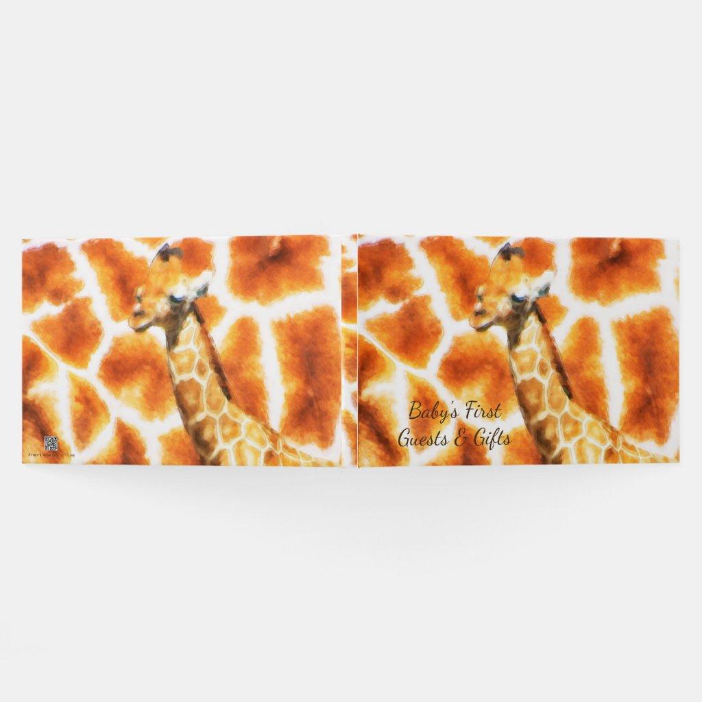 Baby Giraffe Guest Book