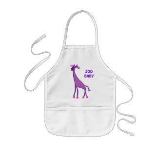 Baby giraffe kids' apron