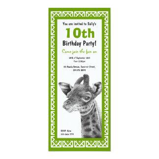 Baby Giraffe Kids Birthday Invitation