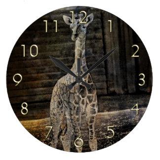 Baby Giraffe Large Clock
