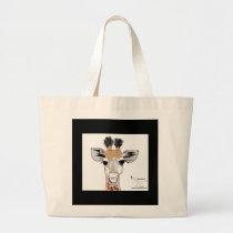 Baby Giraffe Large Tote Bag