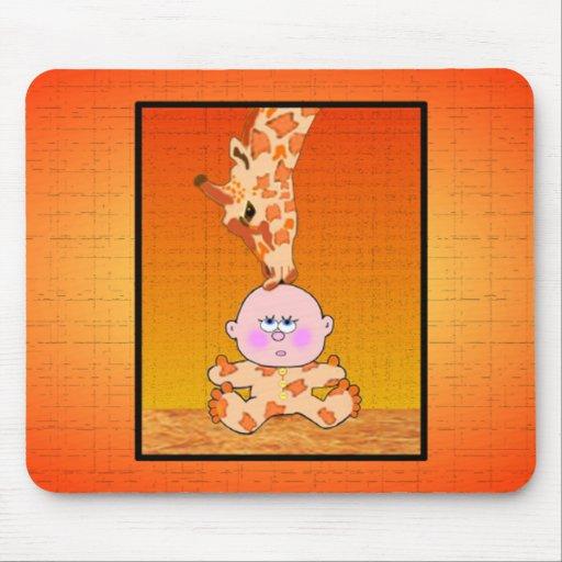 Baby & Giraffe Mousepads