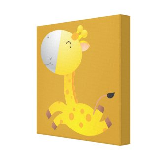 Baby Giraffe/ Nursery Decor Canvas Print