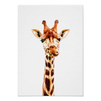 Baby Giraffe Nursery Print on 5x7 Cardstock Card