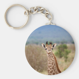 Baby giraffe picture, Kenya, Africa | Keychain