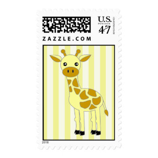 Baby Giraffe Postage Stamps