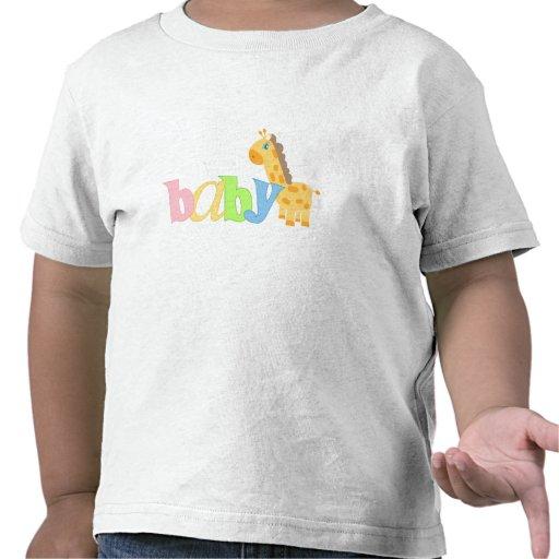 Baby Giraffe (rainbow) Tee Shirts