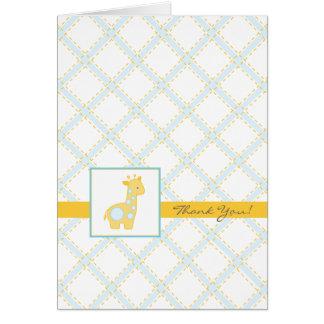 Baby Giraffe Shower Thank You Card