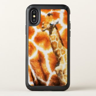 Baby Giraffe Speck iPhone X Case