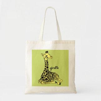 Baby Giraffe Tote Budget Tote Bag