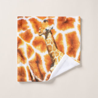 Baby Giraffe Wash Cloth