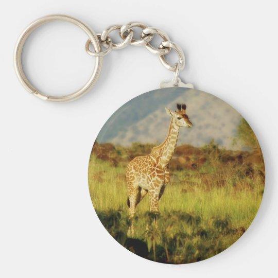 Baby giraffe wildlife keychains & key ring holders