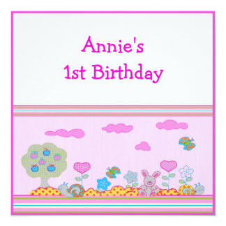 Baby Girl 1st Birthday Card