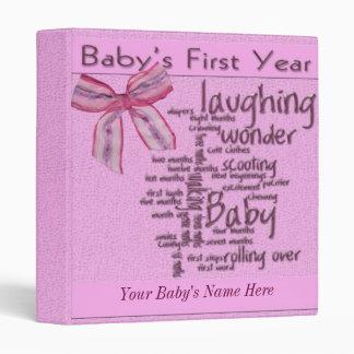 Baby Girl 1st Year Album Binder