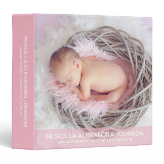 Baby Girl 1st year ALBUM KEEPSAKE Pink | Add PHOTO Binder