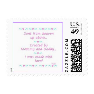 Baby Girl Announcement Postage