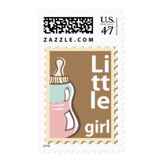 Baby Girl  Announcement Postage Stamps