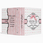 Baby Girl Baby Book Binder - French Bow  Dot vs2l