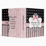 Baby Girl Baby Book Binder - French Bow  Dot vs3