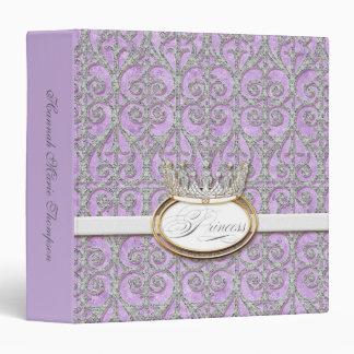 Baby Girl Baby Book Binder - Royal Princess Crown