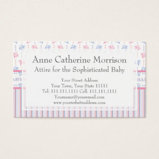 Baby Girl Baby Boy Equal Joy Gender Reveal Party Business Card