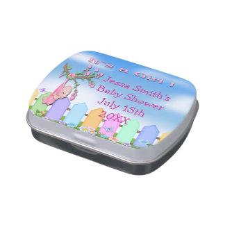 Baby Girl - Backyard Baby Shower Rect. Candy Tin