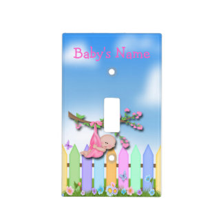 Baby Girl - Backyard Light Switch Covers