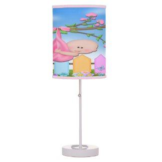 Baby Girl - Backyard Table Lamp