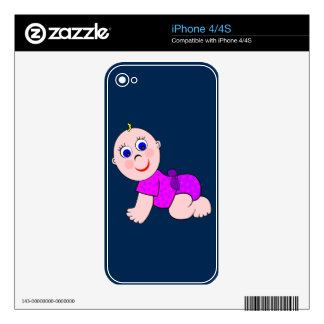 Baby Girl Bald Skin For iPhone 4