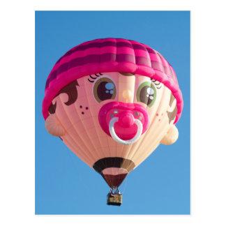 Baby Girl Balloon Postcard