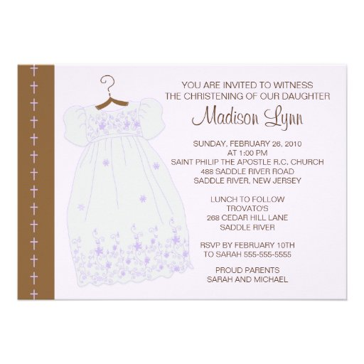 Invitation Baptism Girl for good invitation layout