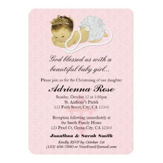Baby Girl Baptism Christening Invitations PINK 179