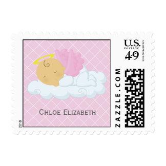 Baby Girl Baptism Postage Stamp