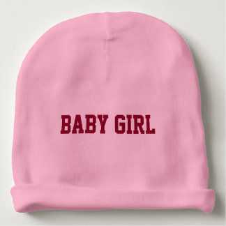 Baby Girl Beanie with Personalized Lettered Name