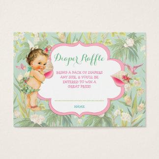 Baby Girl Bikini Tropical Luau Hawaiian Shell Business Card