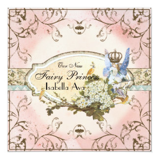 Baby Girl Birth Annoucement - Faerie Princess Card