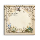 Baby Girl Birth Annoucement - Faerie Princess Envelope