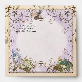 Baby Girl Birth Annoucement - Faerie Princess Envelopes