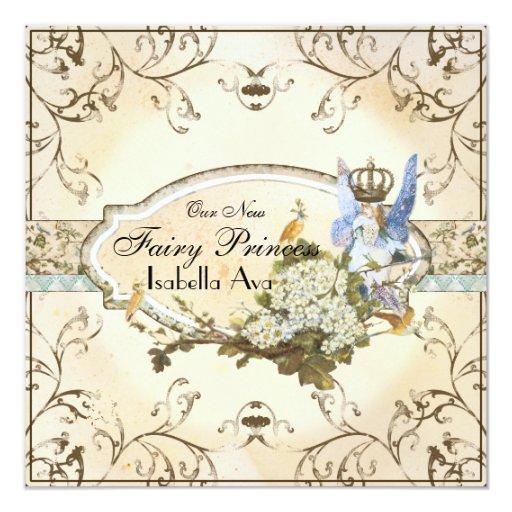 Baby Girl Birth Annoucement - Faerie Princess Invitation