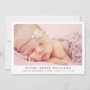 birth announcements zazzle
