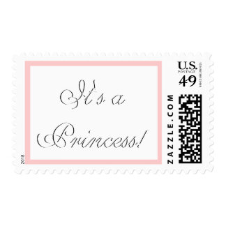 Baby Girl Birth Announcement It's a Princess! Postage Stamp