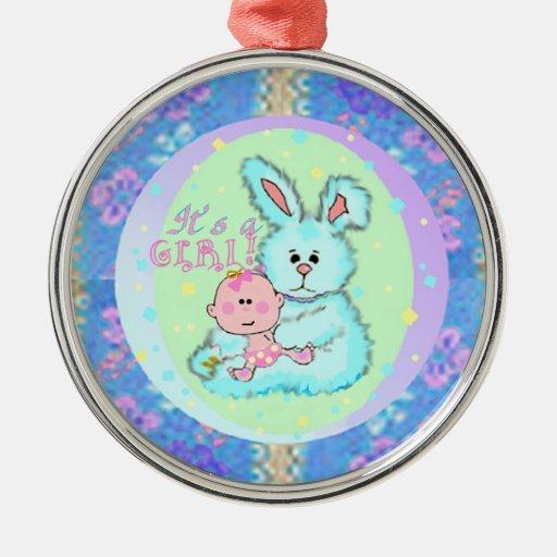 Baby Girl birth announcement Ornament