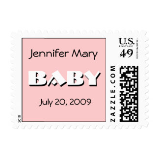 Baby Girl Birth Announcement Postage
