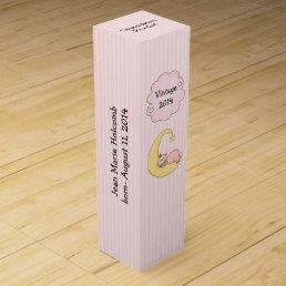 Baby Girl Birth Congratulations Gift Wine Box