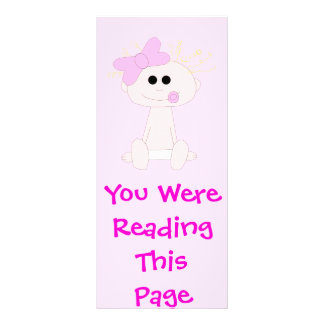 Baby Girl Bookmark Template Rack Card