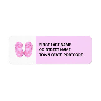 Baby Girl Booties Return Address Label