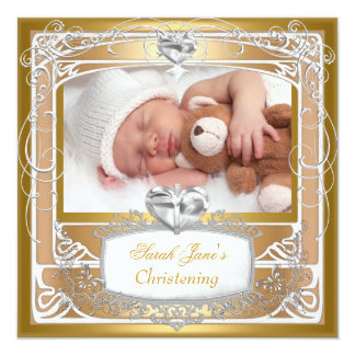 Baby Girl Boy Christening Baptism Cross White Card
