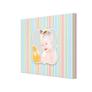 Baby Girl/Boy Photo [20x16 Inches] Canvas Print
